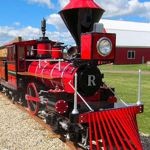 All aboard our miniture train as we get a great scenic look of Richardson Adventure Farm in Spring Grove, Illinois
