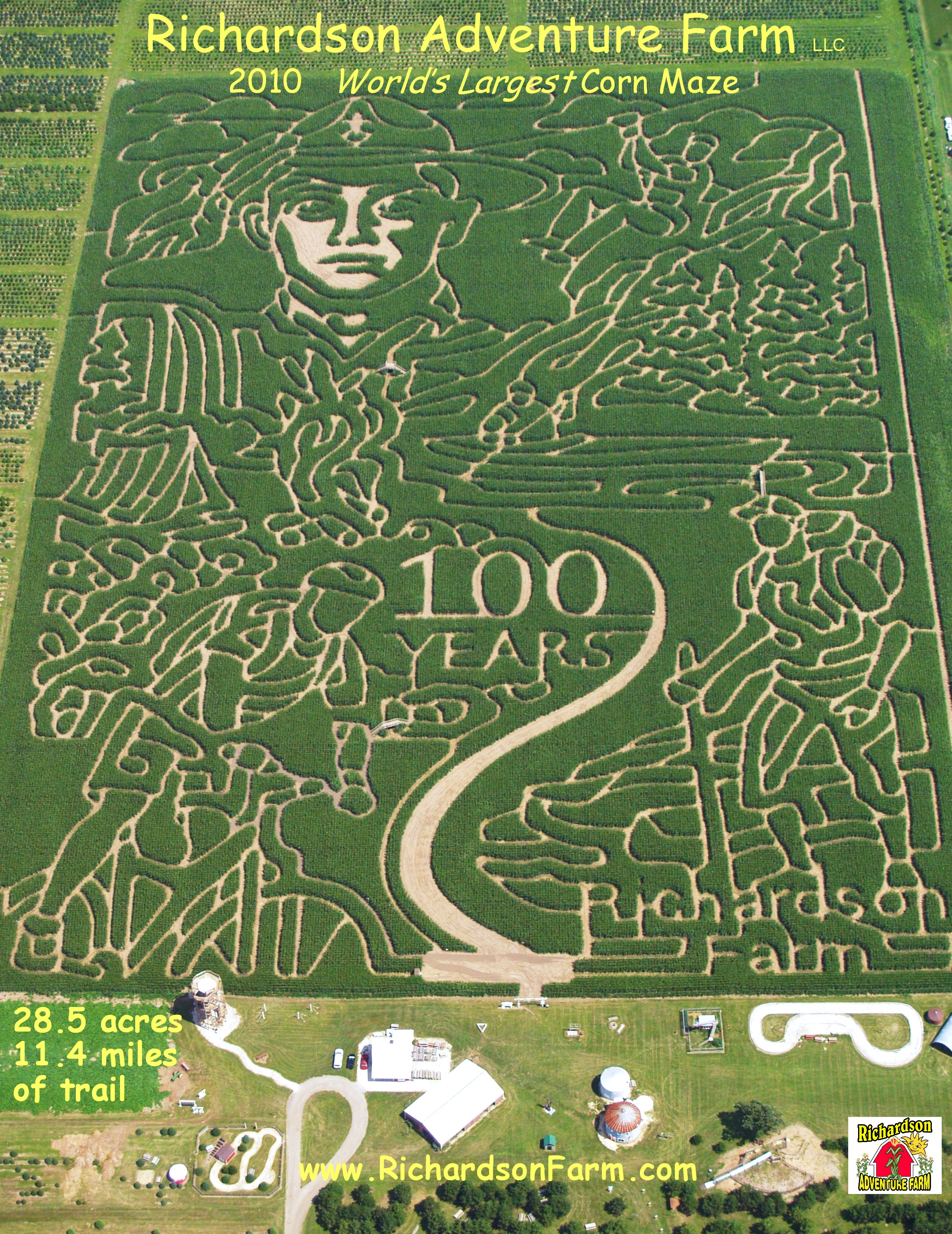 2010 Corn Maze - 100 Years of Scouting