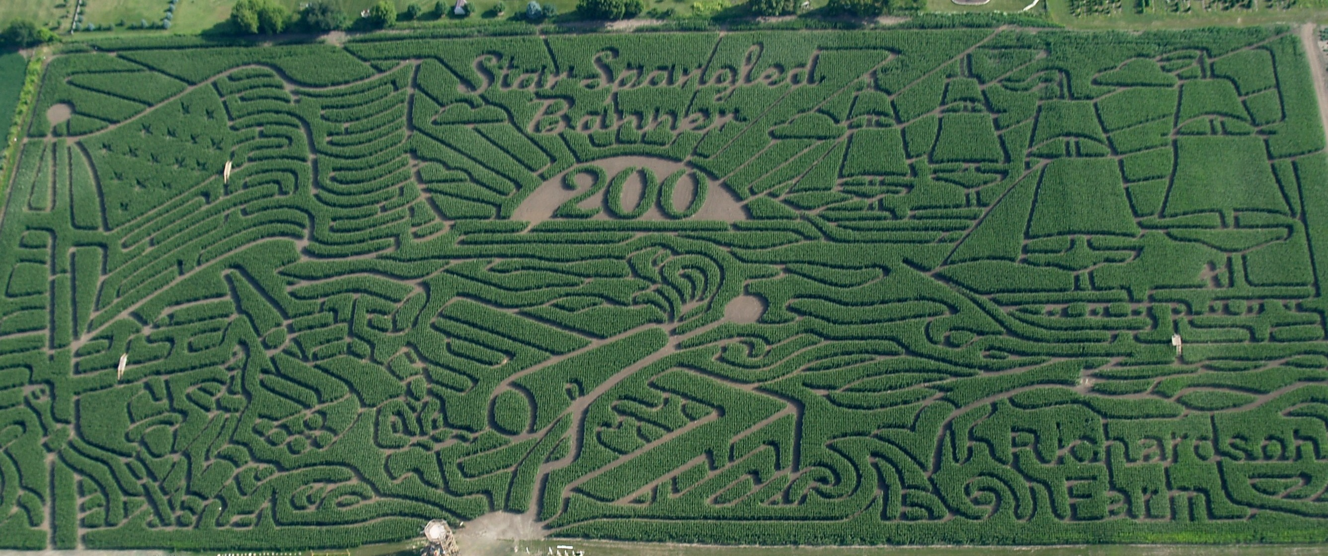 2014 Corn Maze - 200th Anniversary of the Start Spangled Banner