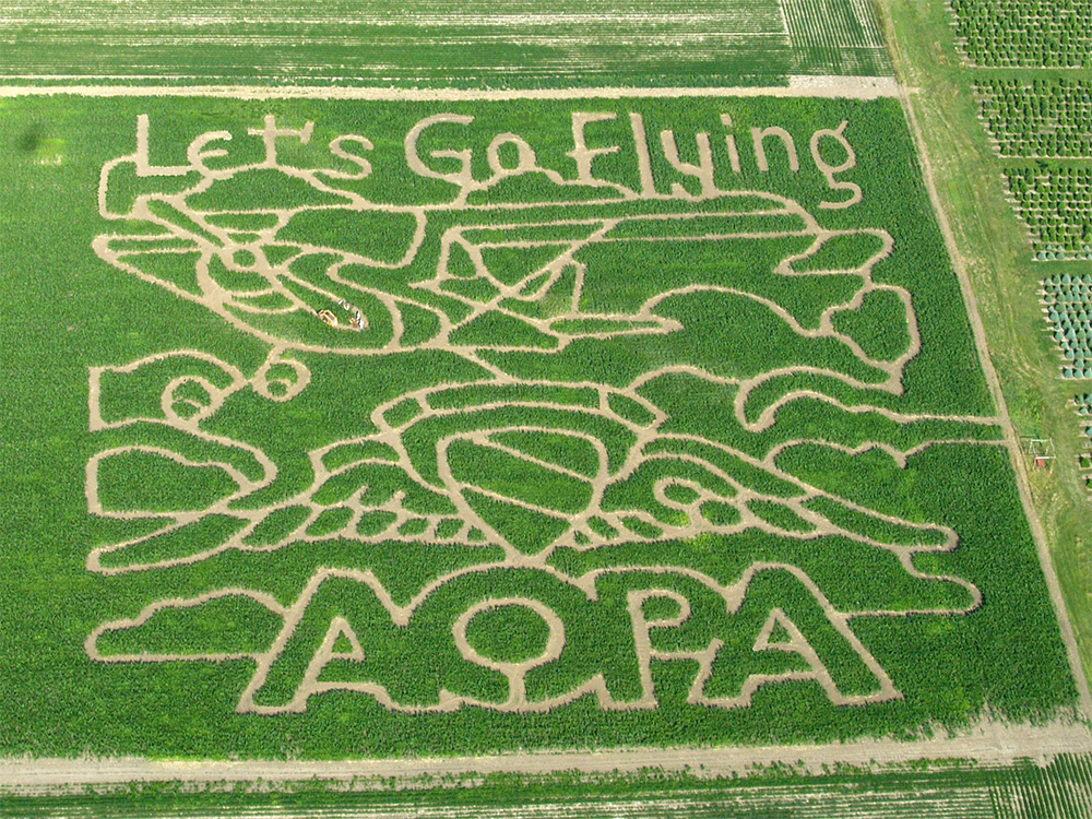 2009 5-Acre Corn Maze - 80 Years of the Aircraft Owners and Pilots Association