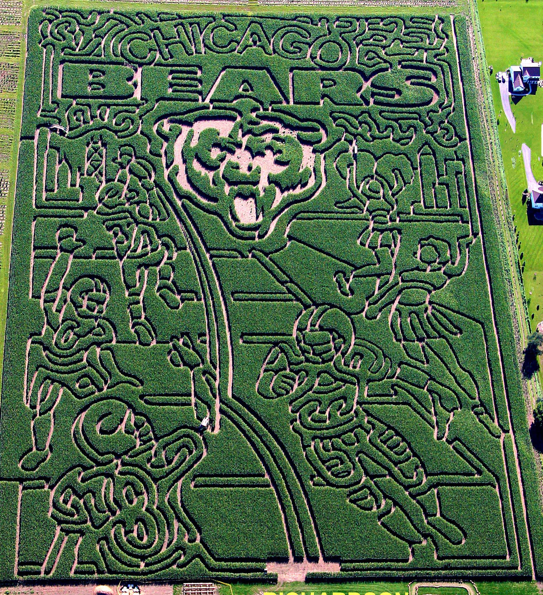 2007 Corn Maze - Chicago Bears