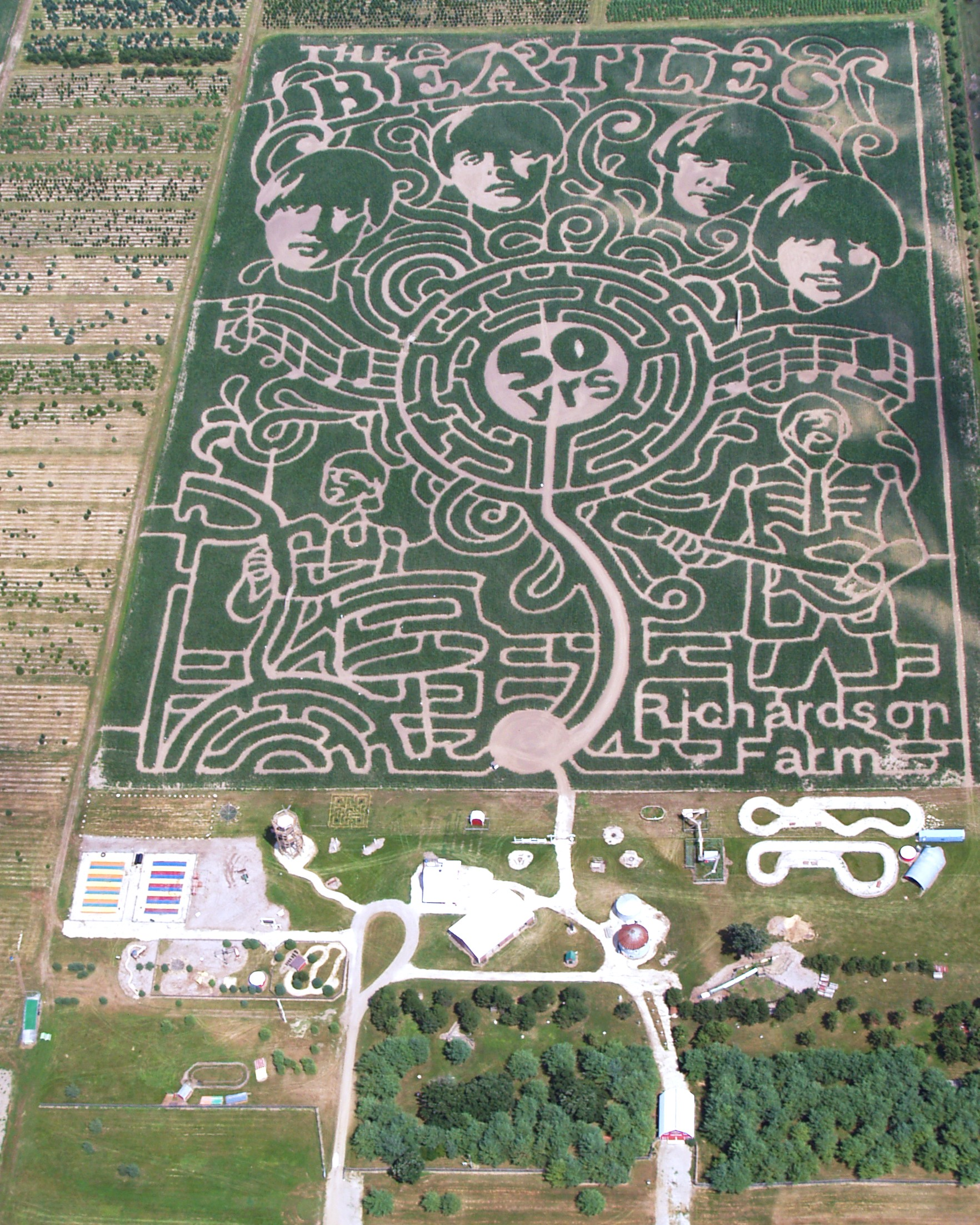 2013 Corn Maze - 50 Years of the Beatles