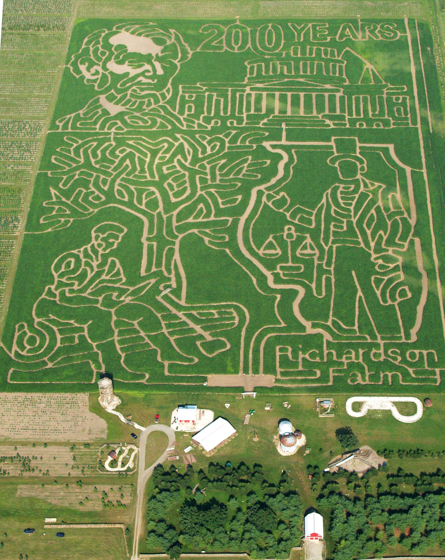 2009 Corn Maze - 200 Years of Abraham Lincoln