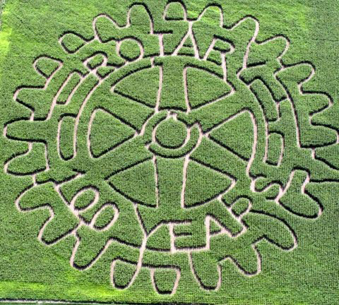 2005 5-Acre Corn Maze - 100 Years of Rotary International