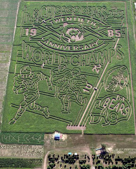 2005 Corn Maze - 20th Anniverary of the Chicago Bears