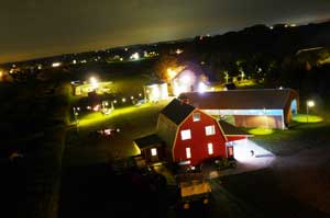 You'll love your nighttime event or picnic Company Picnics, Group Outings, Corporate Events in the Barn or Bin, at Richarson Adventure Farm in Spring Grove, Illinois, NW of Chicago
