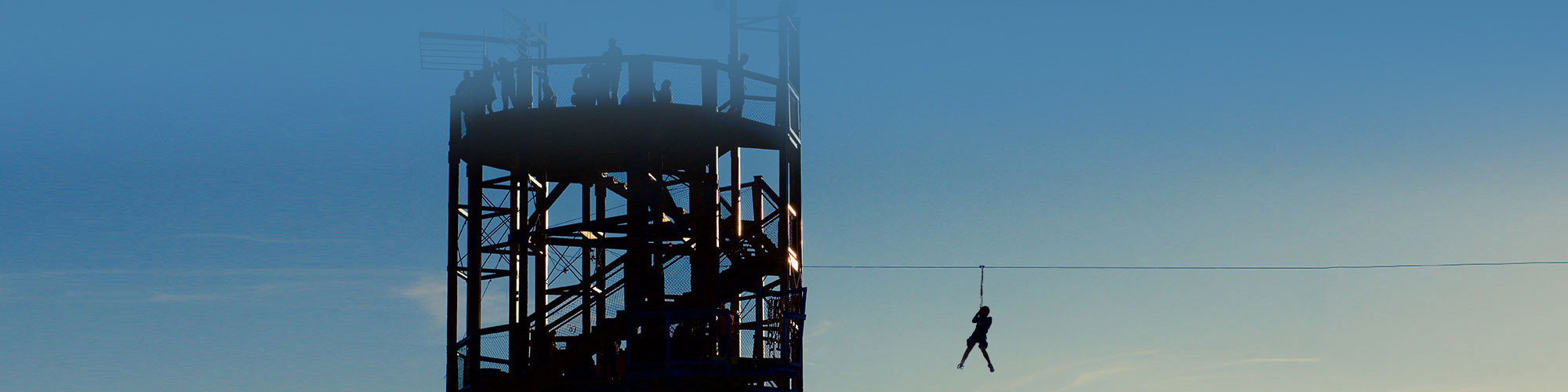 Soar down our 100 foot zipline from out towering observation tower in Lake County, Illinois