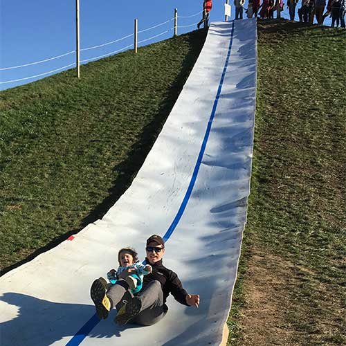 Slide down our 100 Foot slide
