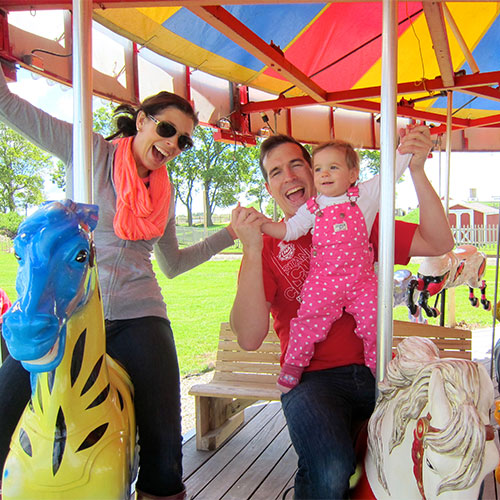 Enjoy the timeless magic of our Farm Carousel