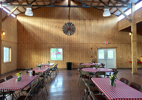 Group Events, Birthday Parties, Reunions, and more in our fabulous Event Room located centrally on our Adventure Farm in Spring Grove.