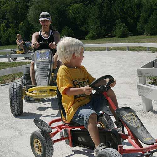 Race your friends with our pedal karts