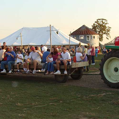 Head out into the farm on one of our wagon rides